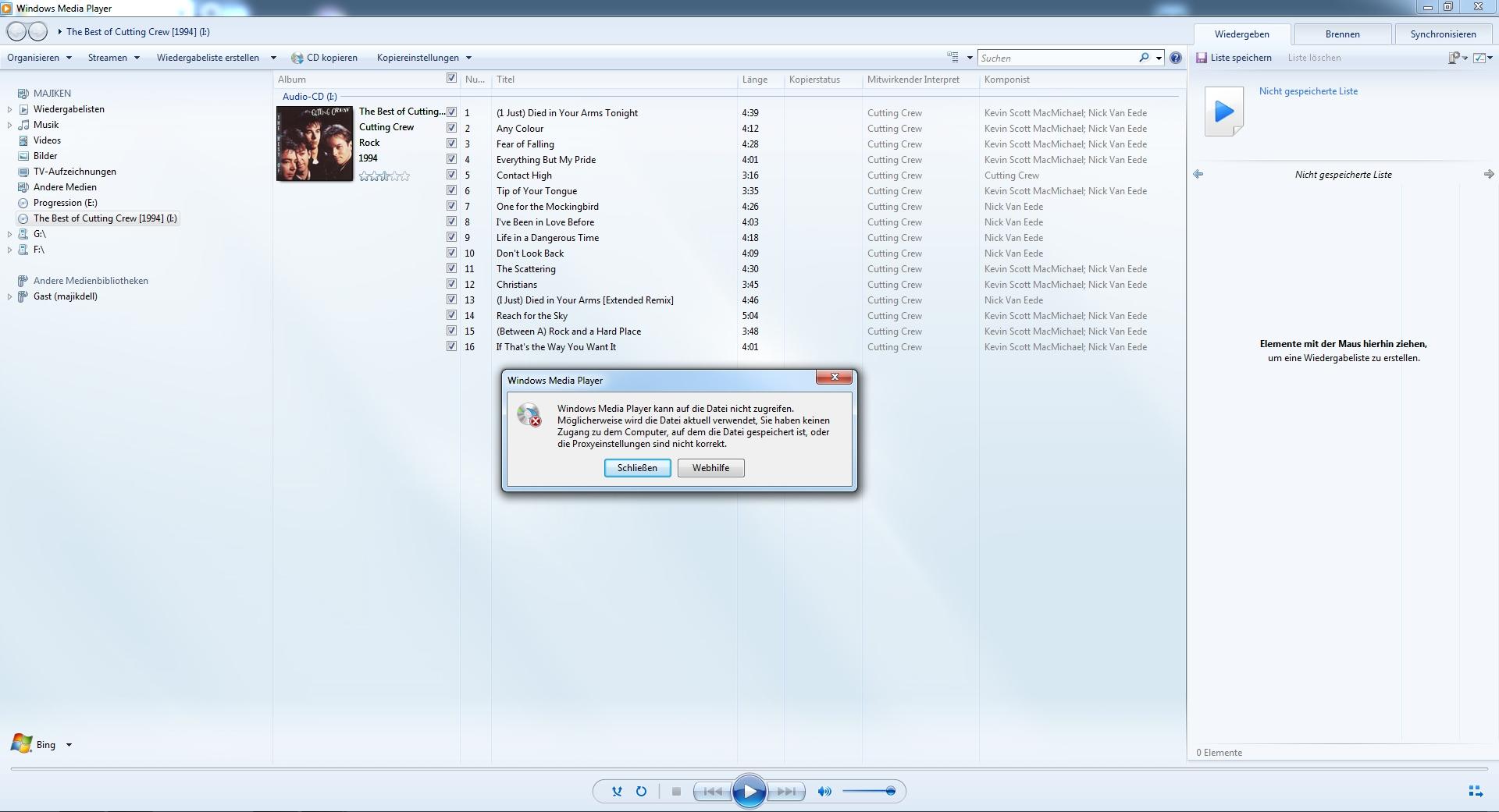 Windows Media Player Erkennt Album Nicht