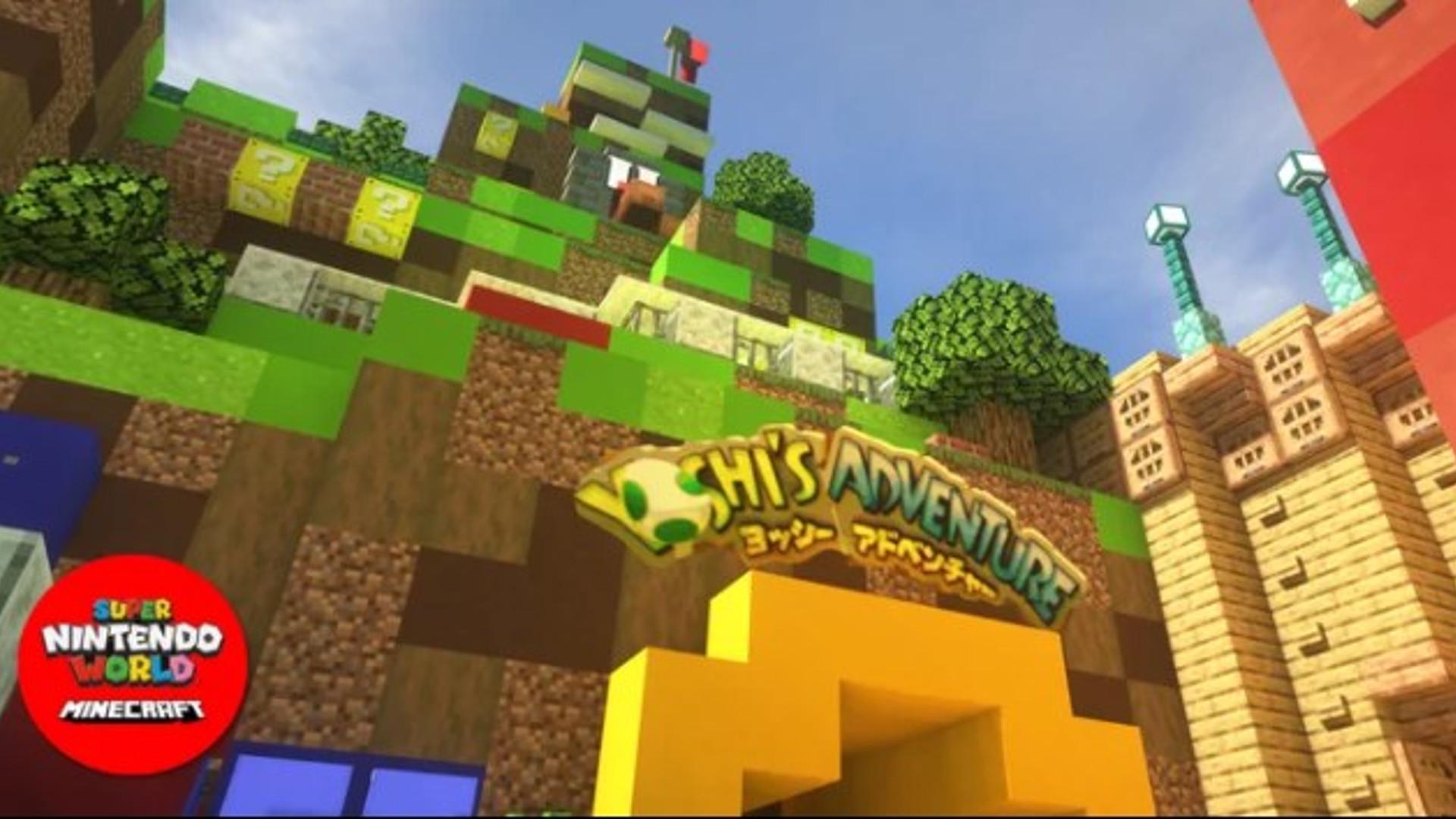 Die Super Nintendo World wird in Minecraft gebaut